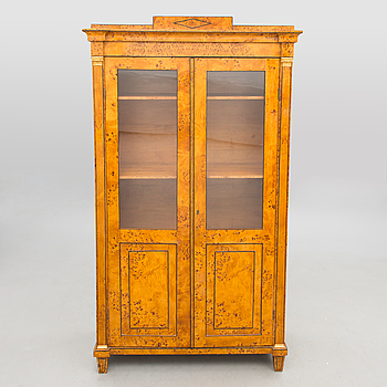 A RUSSIAN BOOK CABINET, late 19th century.