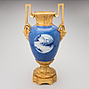Urn, gilt bronze and chinese porcelain, ca 1850-70.