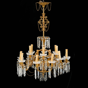 A chandelier, late 19th century, hight ca 105 cm.