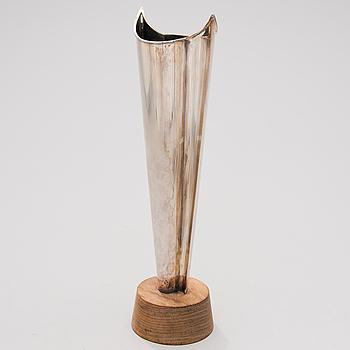 "TAPIO WIRKKALA, vas, silver, ""Flamma"" Hopeakeskus, Tavastehus 1964."