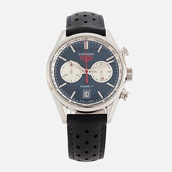 """HEUER, Carrera, """"Tachymetre"""", kronograf, armbandsur, 40,5 mm,"""