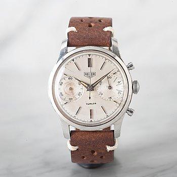 4. HEUER, kronograf, armbandsur, 35 mm.