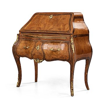 10. A Swedish Rococo 18th century secretaire in the manner of Johan Henrik Reimer (master in Stockholm 1745-1773).