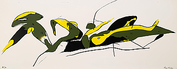LAGE LINDELL, silkscreen, signed and numbered 25/49.