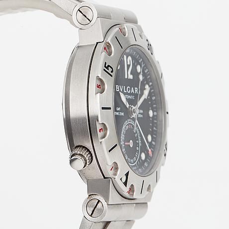 Bvlgari, scuba gmt, armbandsur, 39 mm.