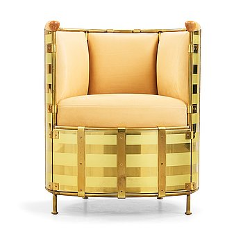 13. Mats Theselius, an 'El Dorado' lounge chair by Källemo, Sweden, post 2002.