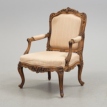 KARMSTOL, Louis XV-stil, 1800-tal.