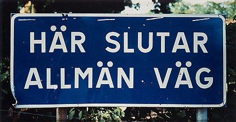 """Dan wolgers, """"här slutar allmän väg iii"""", 1995."""