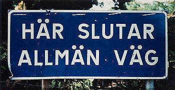 """155. Dan Wolgers, """"Här slutar allmän väg III"""", 1995."""