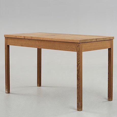 Axel einar hjorth, a stained pine desk, nordiska kompaniet, sweden 1930's.