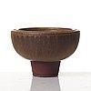 Wilhelm kåge, a 'farsta' vase and a bowl, gustavsberg studio 1953-60.