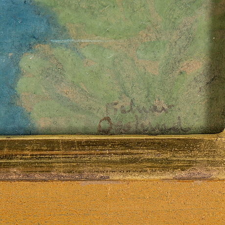 Helmer osslund, waterolor on paper, signed.