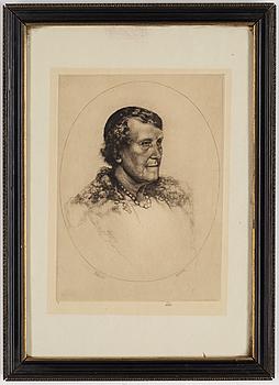AXEL FRIDELL, torrnål, 2 st, signerade med blyerts.