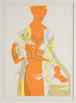 TOMMY ÖSTMAR, lithograph in colors, signed and numbered 21/60.