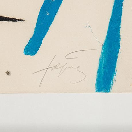 Antoni tàpies, carborundum ecthing, signed and numbered hc.