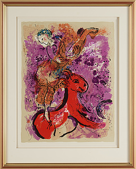 MARC CHAGALL, after, 1957. a lithographic poster.