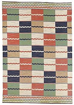 """200. Märta Måås-Fjetterström, A CARPET, """"Vita Rutmattan"""", flat weave, ca 298,5 x 201,5  cm, signed AB MMF."""