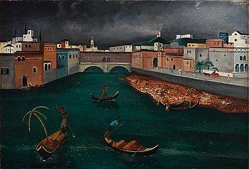 225. ERIC HALLSTRÖM, Motiv från Venedig.