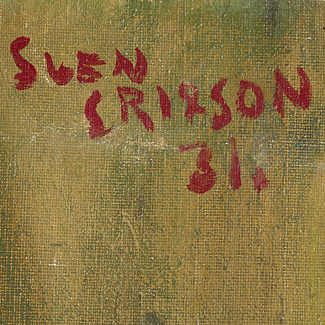 Sven x:et erixson, oil on canvas, signed and dated -31.