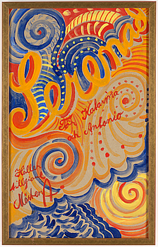 MÅRTEN ANDERSSON, gouache, signerad med dekoration.