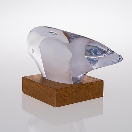 Pauli partanen, glasskulptur, signerad pauli partanen. tillverkningsår 2013