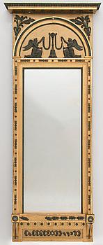 SPEGEL, tillskriven Jonas Frisk (spegelfabrikör i Stockholm 1805-1824), sengustaviansk.