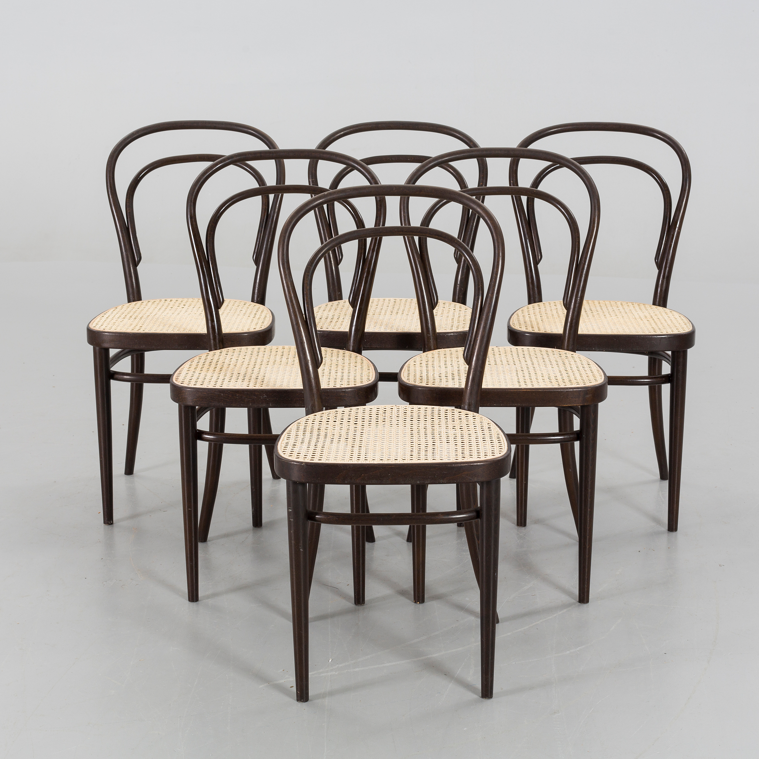 A SET OF 6 THONET BENTWOOD CHAIRS marked Thonet 78 Bukowskis