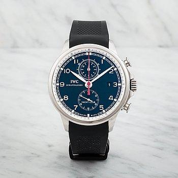 14A. IWC, Schaffhausen, Portuguese Yacht Club, Chronograph, wristwatch, 45,5 mm,