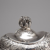 A russian 18th century silver jug, mark of ivan frolov, st petersburg 1757.