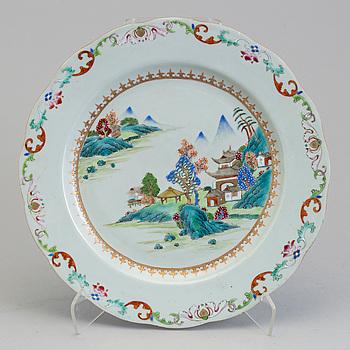 FAT, kompaniporslin. Kina, Qingdynastin, Qianlong (1736-95).