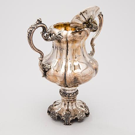 A finnish neo rococo silver samovar by anders wilhelm felixsson, lovisa 1851