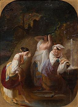OIDENTIFIERAD KONSTNÄR, olja på duk, ej signerad, 1800-tal.
