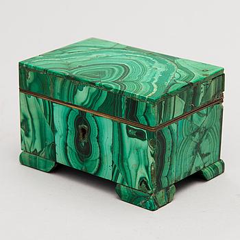 A MALACHITE BOX, Russia early 19th century.