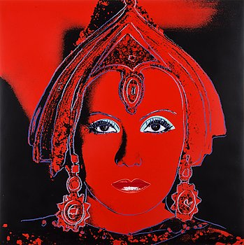 "205. Andy Warhol, ""The Star"" (Greta Garbo), ur: ""Myths""."
