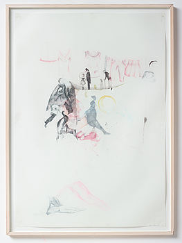 ASTRID SVANGREN, ASTRID SVANGREN, crayon on paper, signed and dated -05.