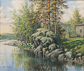 DANIEL JOHANNES PESU, DANIEL JOHANNES PESU, oil on canvas, signed and dated Sortavala 1940.