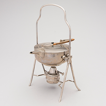 JAN EISENLÖFFEL, after, tea kettle with burner, the first half of the 20th century.