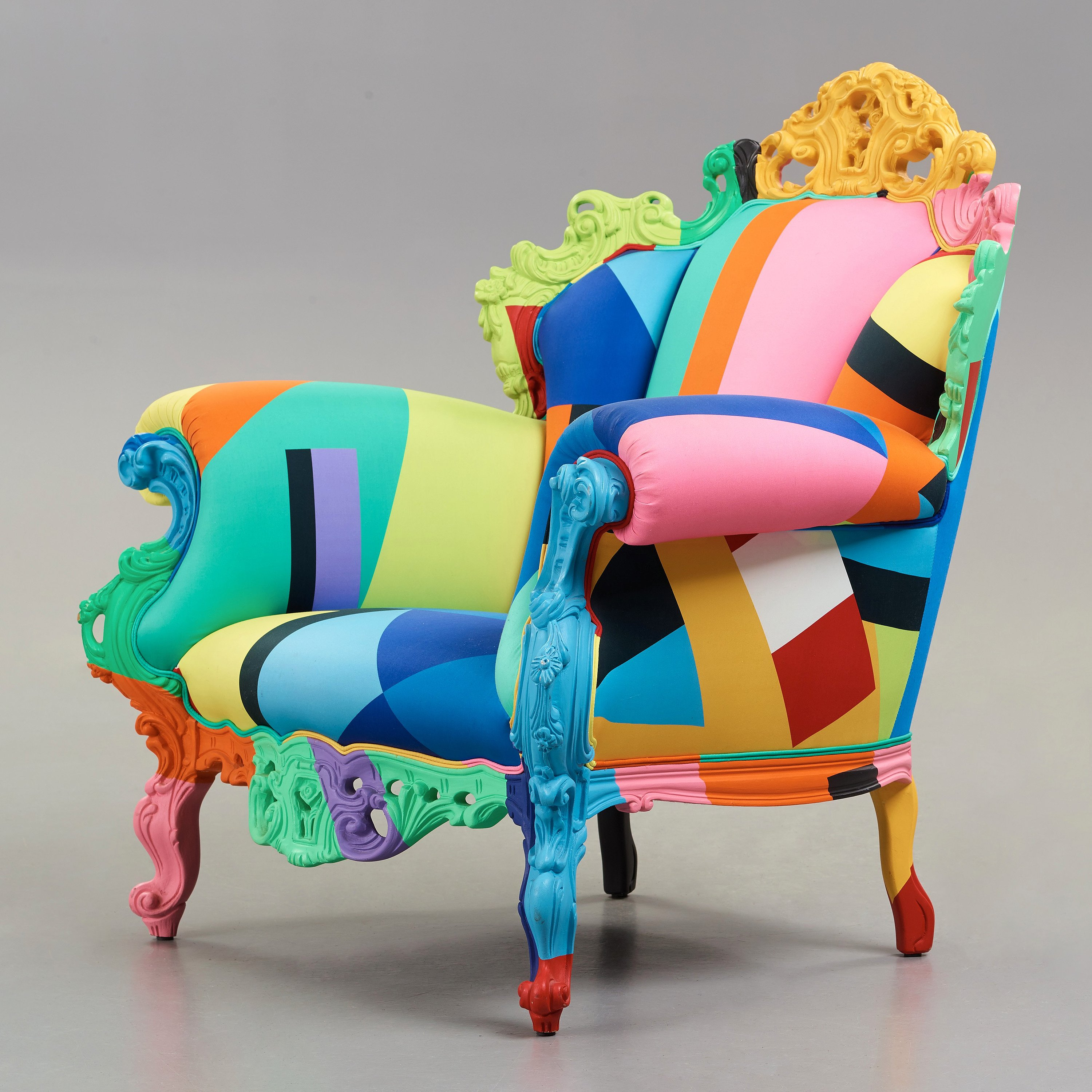 Alessandro Mendini, a 'Proust Geometrica' armchair ...