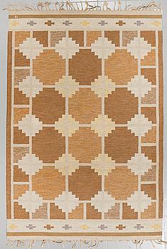 MATTA, rölakan, Ingegerd Silow, signerad IS, 1900-talets tredje kvartal, 239 x 162 cm.