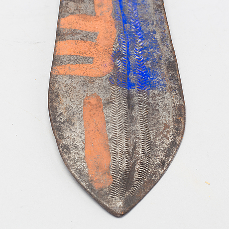 Ceremoniell kniv /betalningsmedel, poto / ngombe, dr kongo.