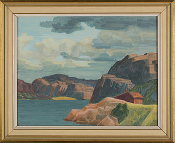 EWALD DAHLSKOG, akvarell, signerad Ewald Dahlskog och daterad 46.