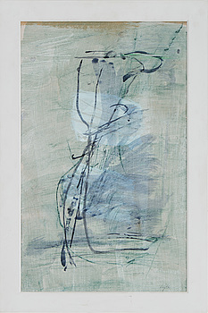 HARALD LYTH, mixed media on panel, signed and dated 1986 on verso.