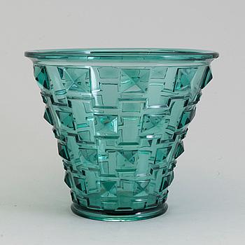 VAS, glas, Simon Gate, Orrefors omkring 1930.