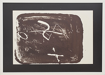 ANTONI TÀPIES, litografi, ur Derrière le Miroir nr 210 1974.