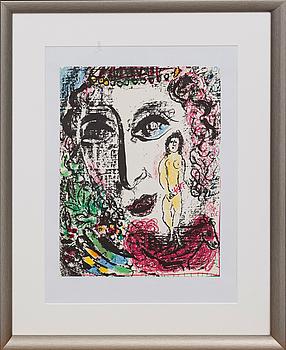 MARC CHAGALL, färglitografi, ur Chagall Lithographe II.