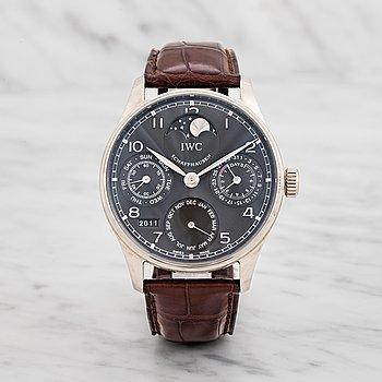14. IWC, Schaffhausen, Portugieser, Perpetual Calendar, wristwatch, 42 mm,