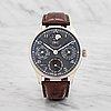 Iwc, schaffhausen, portugieser, perpetual calendar, wristwatch, 42 mm,