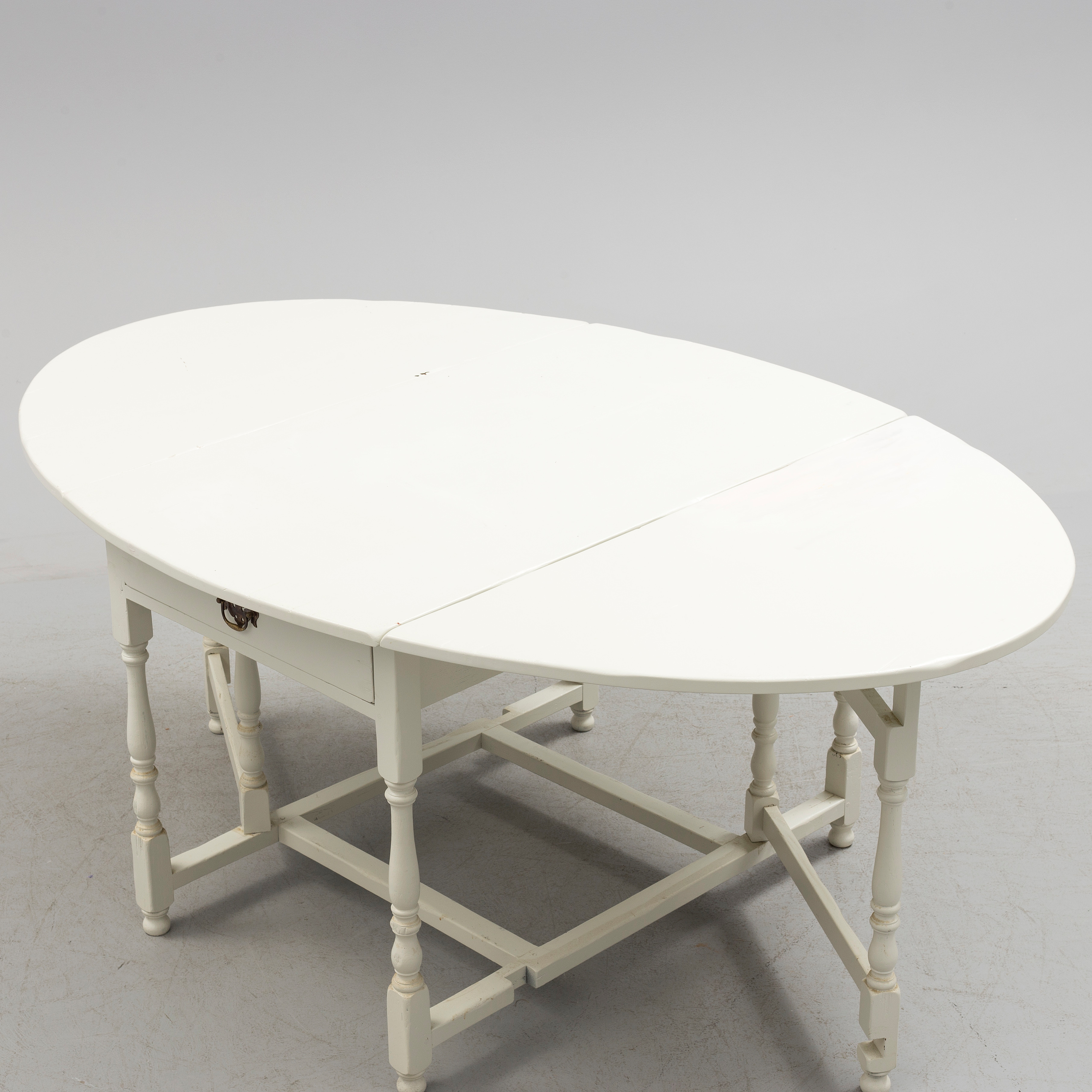 A Swedish country style painted 19th century flap table