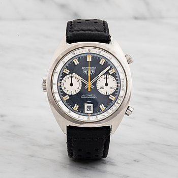 "3. HEUER, Carrera, ""Tachy"", chronograph, wristwatch, 38 mm,"