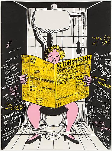 A silk screen poster, 1969
